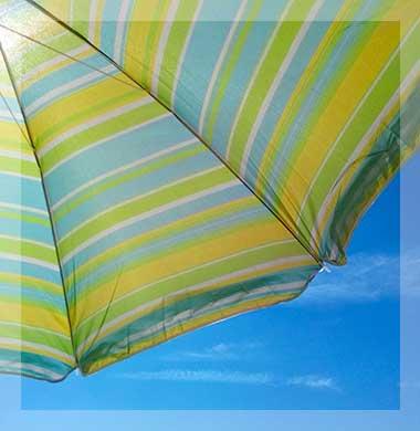 Zeezicht Verhuur Egmond strand parasol